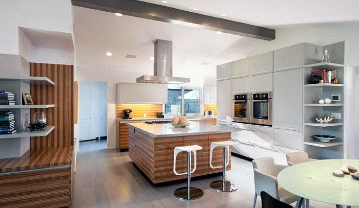 Interior design island kitchen