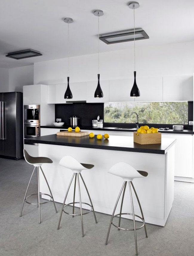 blak white kitchen