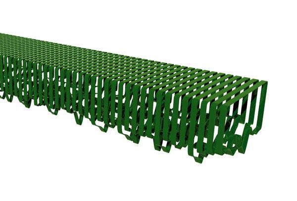 green urban bench