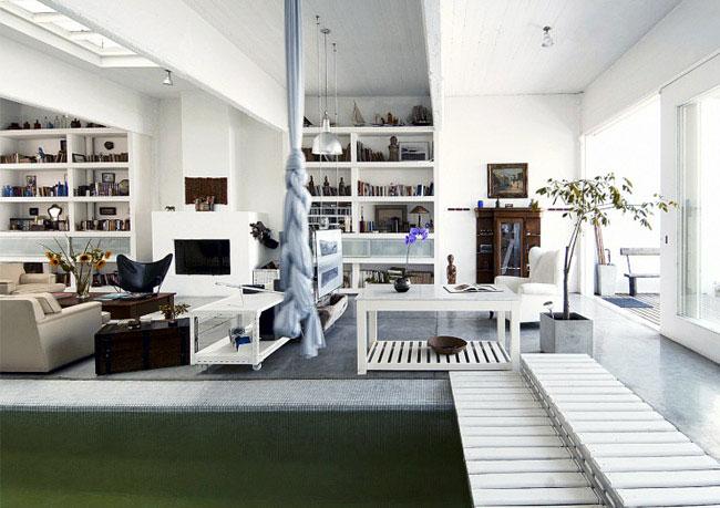 pool inside house