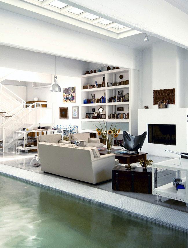 white shelves livingroom