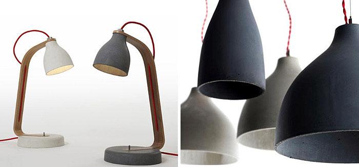 concrete desk light