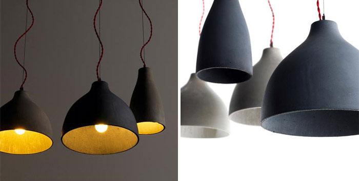 concrete pendant lamps