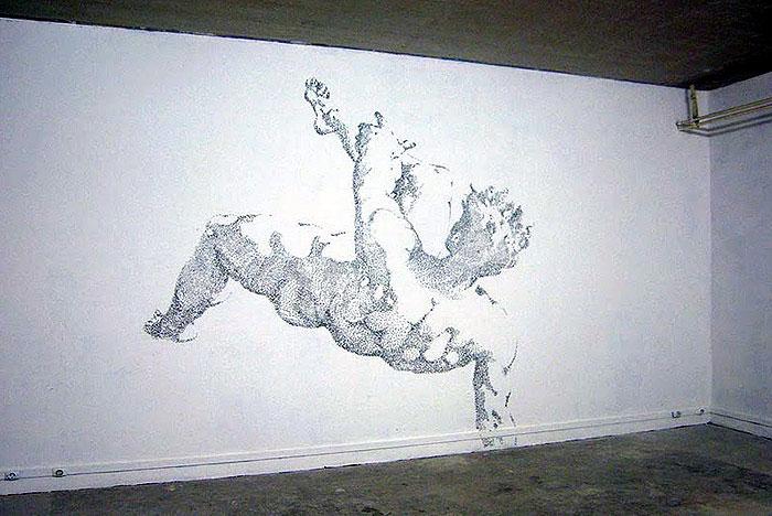 everyday material art installation