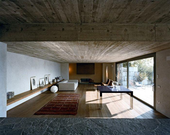 interior stone house