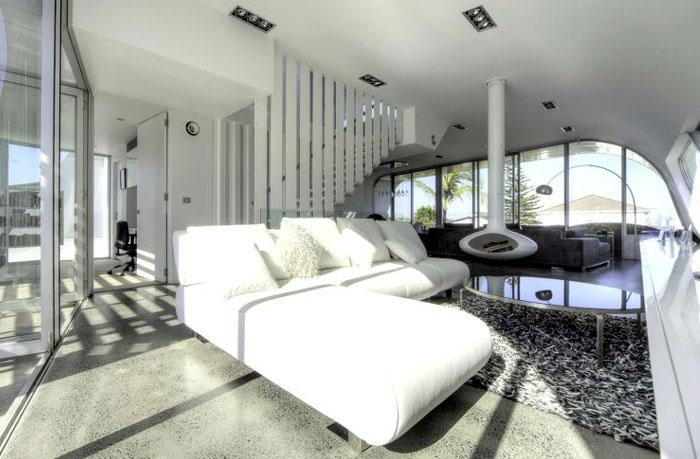 white sofa room