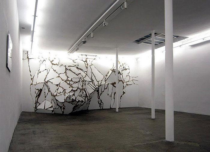 wooden art installation