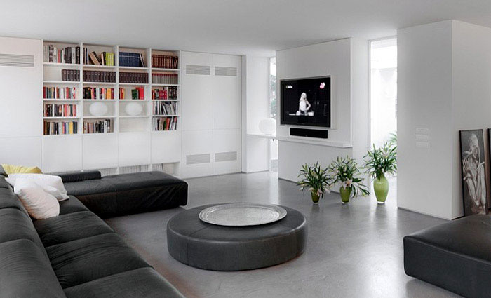 big space livingroom white