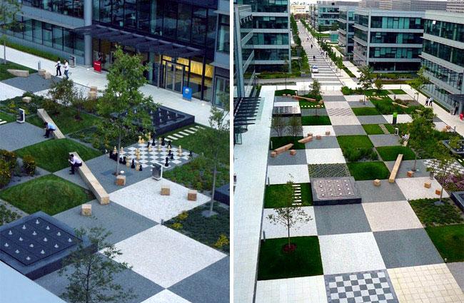 modern patchwork park