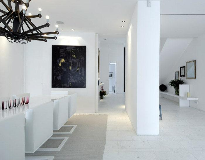 modern white diningroom