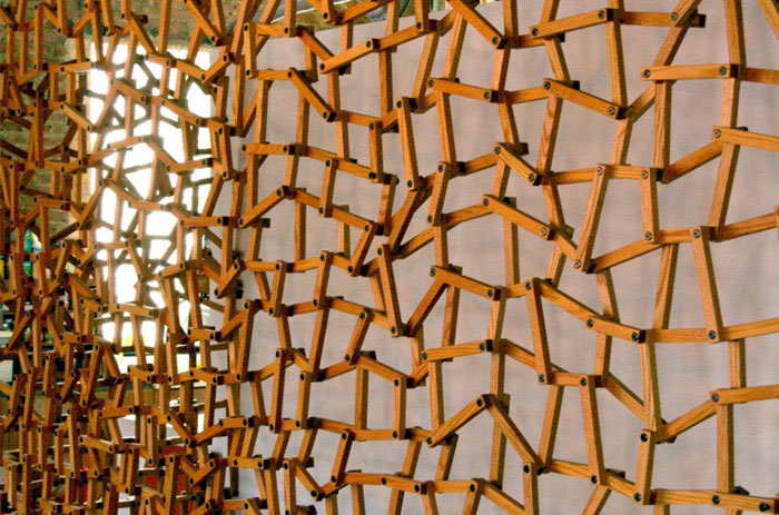 sculptural wall