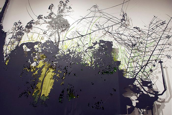 art instalacion rain forest