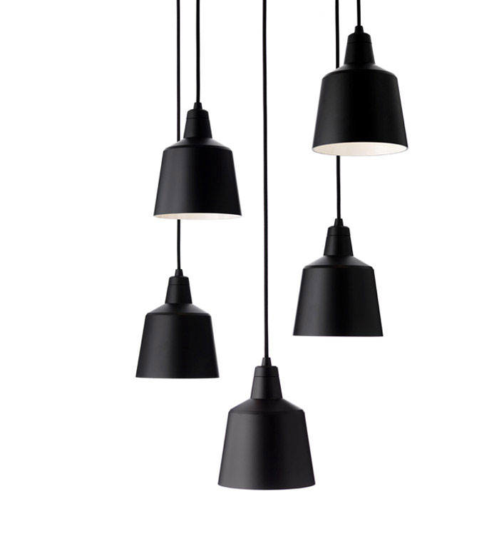 mono lamp black multiple