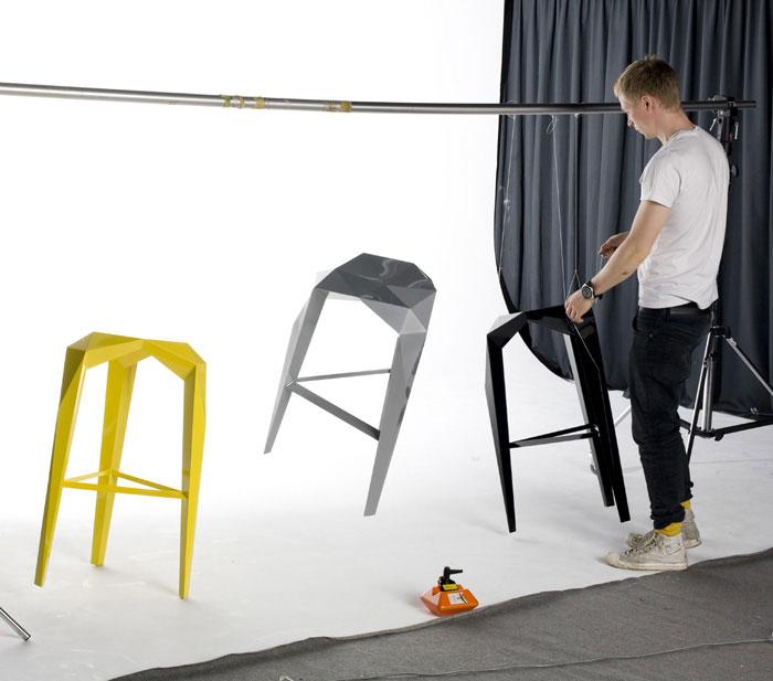 geometric form stool