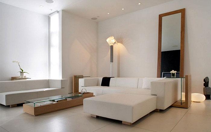 modern white livingroom
