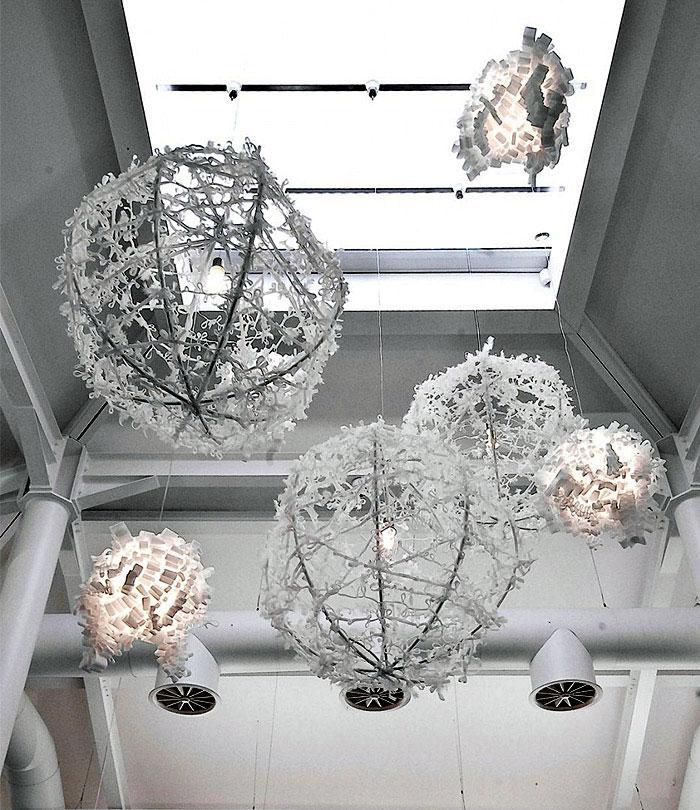 modern textile lighting