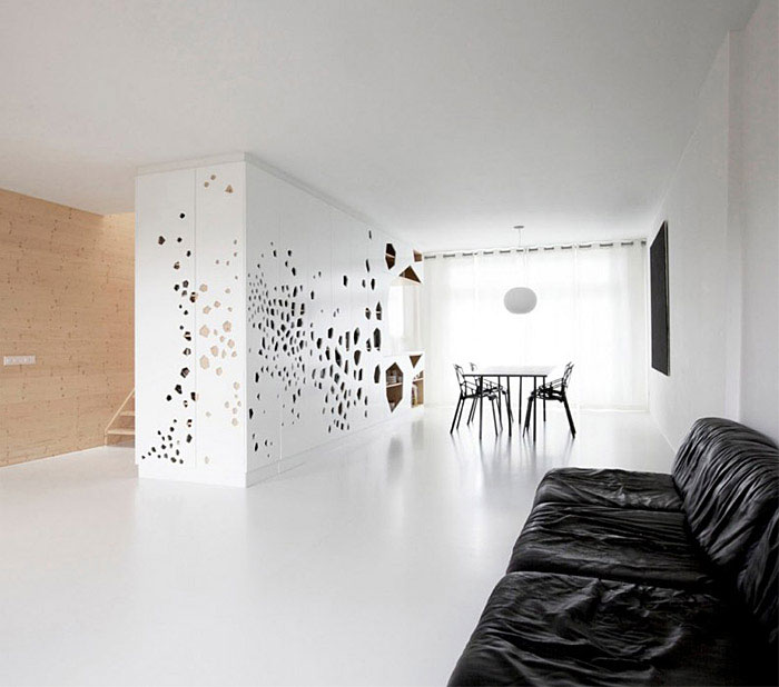 spacious transparent dwelling