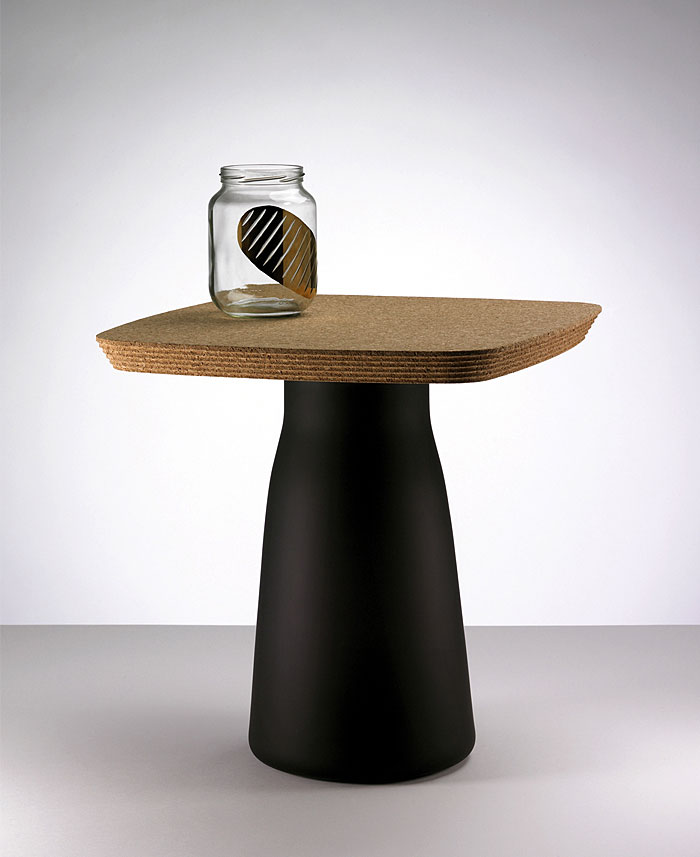 cork table design tomas kral