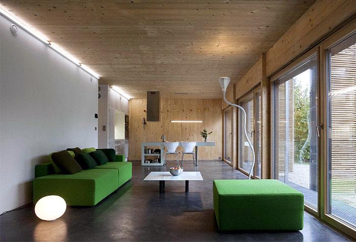 modern french livingroom interior