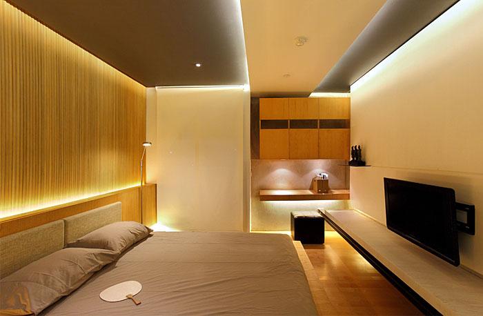 stylish apartment bedroom