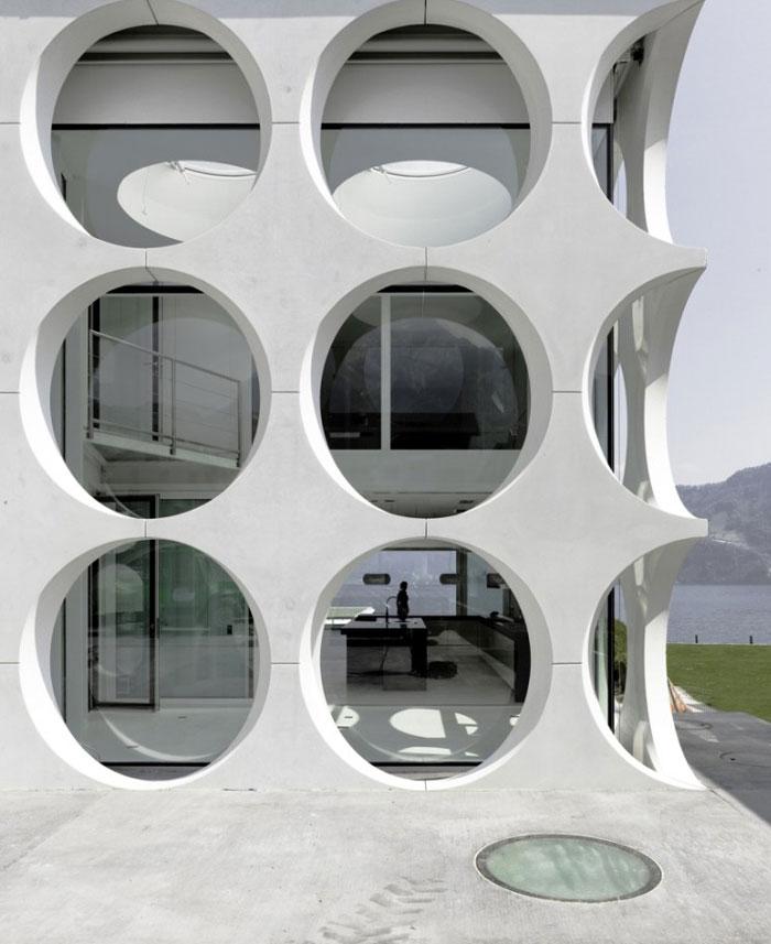 sculptural villa exterior
