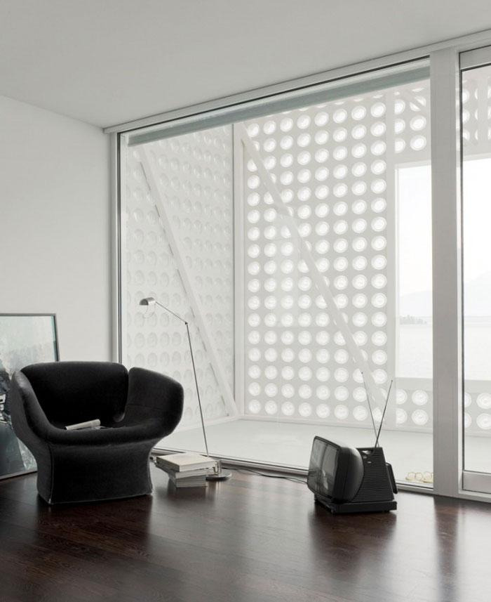white concrete interior livingroom