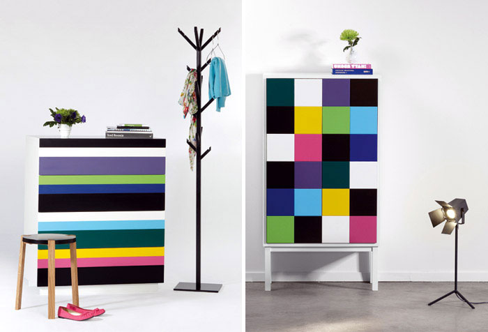 furniture design stripe collect pile