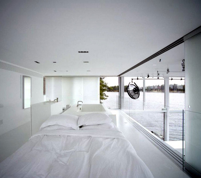 archetypal glass house bedroom
