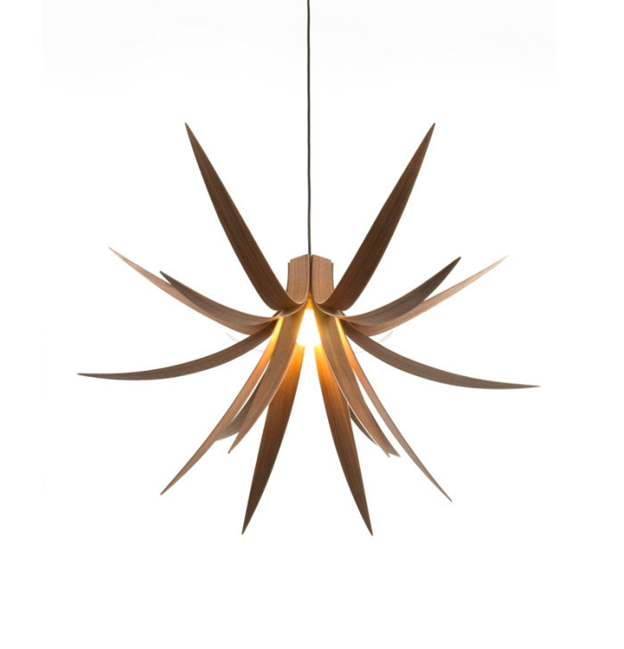 iris pendant light walnut