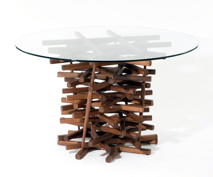 nest dining table walnut