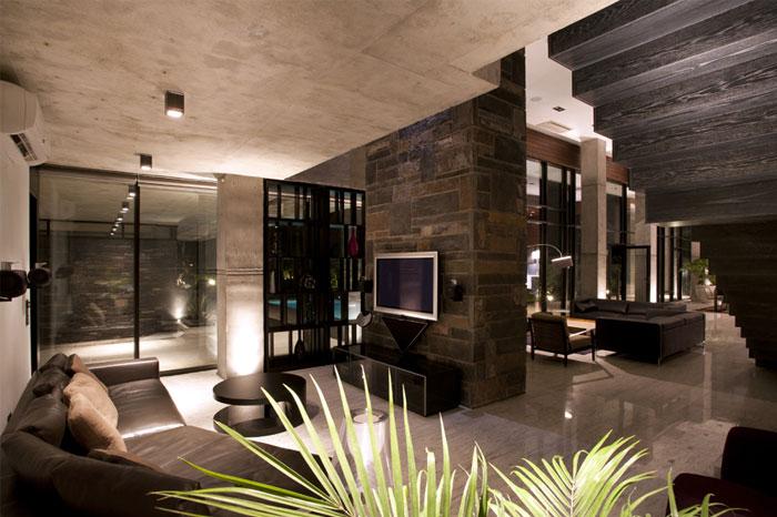 stylish home livingroom interior