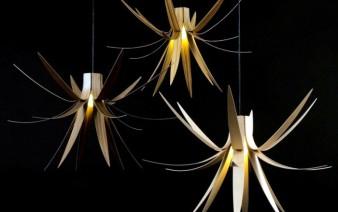 trio of pendant lights walnut zebrano sycamore 338x212