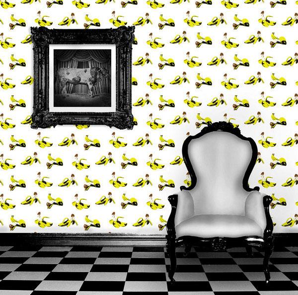 chocolate bannana home decor wallpaper