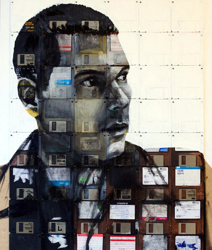 floppy disk art nick gentry b