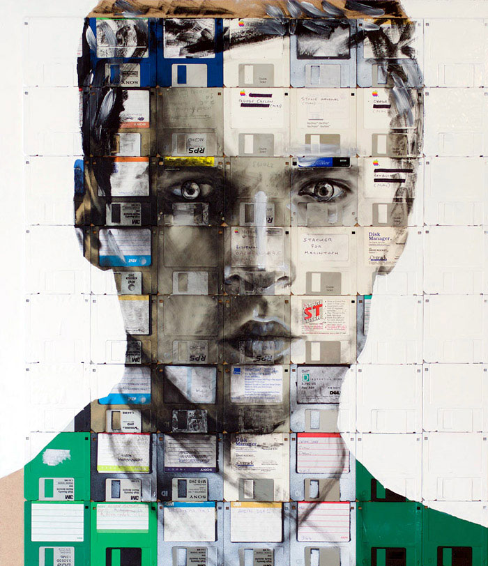 floppy disk art nick gentry d
