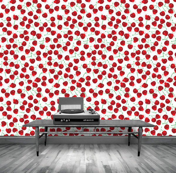 popped cherries home decor wallpaper
