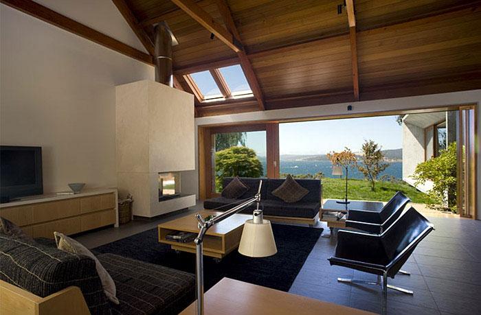 stylish house open interior livng room