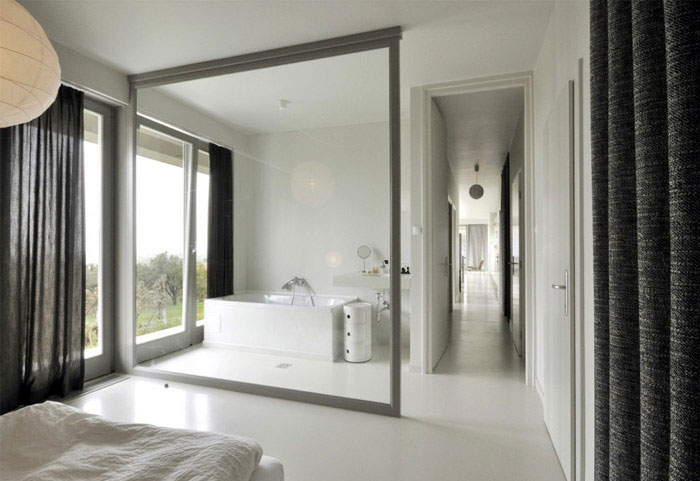 white interior bedroom