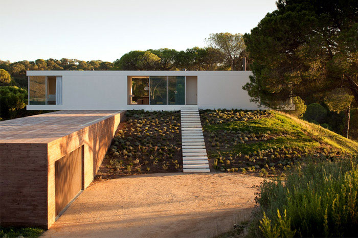 geometric house exterior