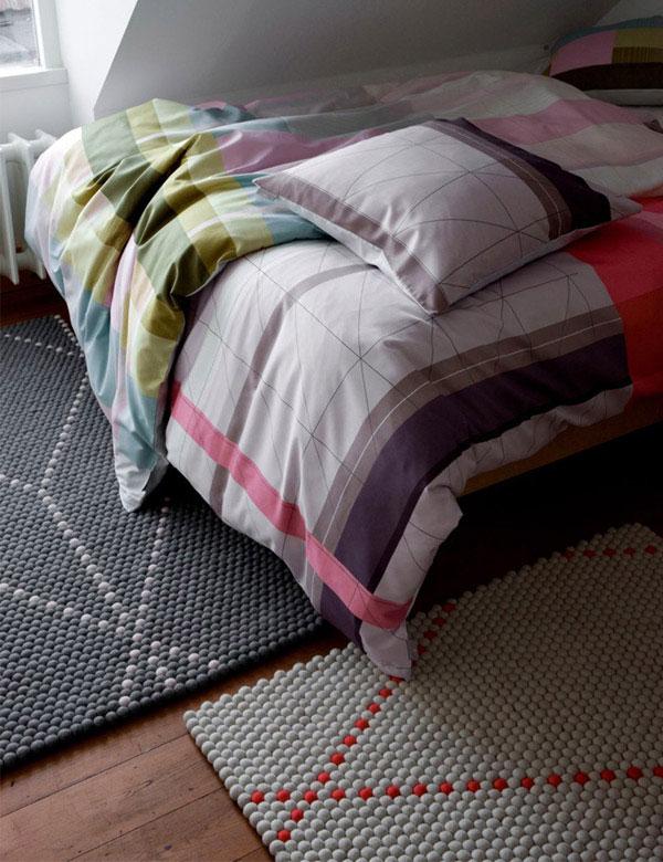 line geometric textiles home