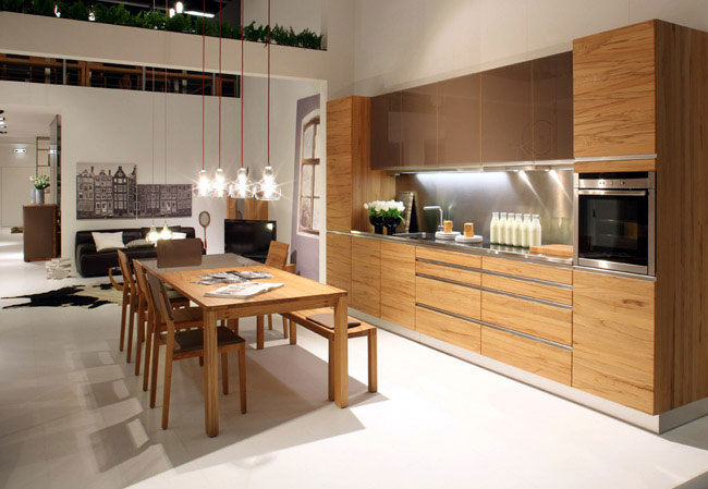 solid wood design kitchen