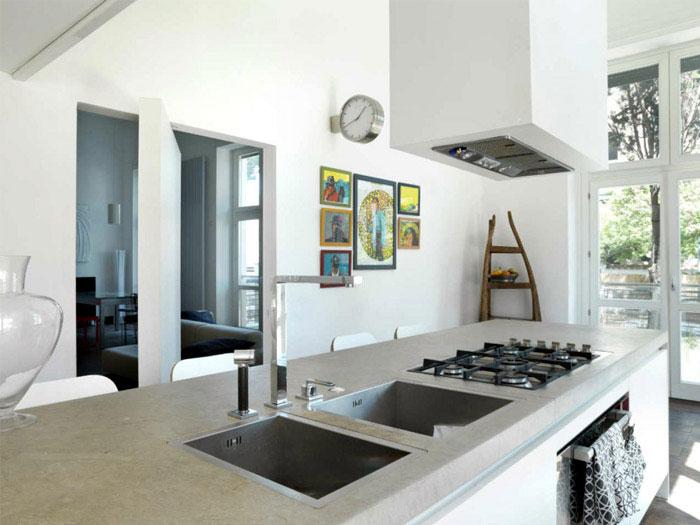 stylish apartment kitchen