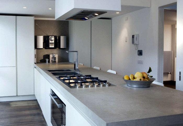 stylish apartment white kitchen
