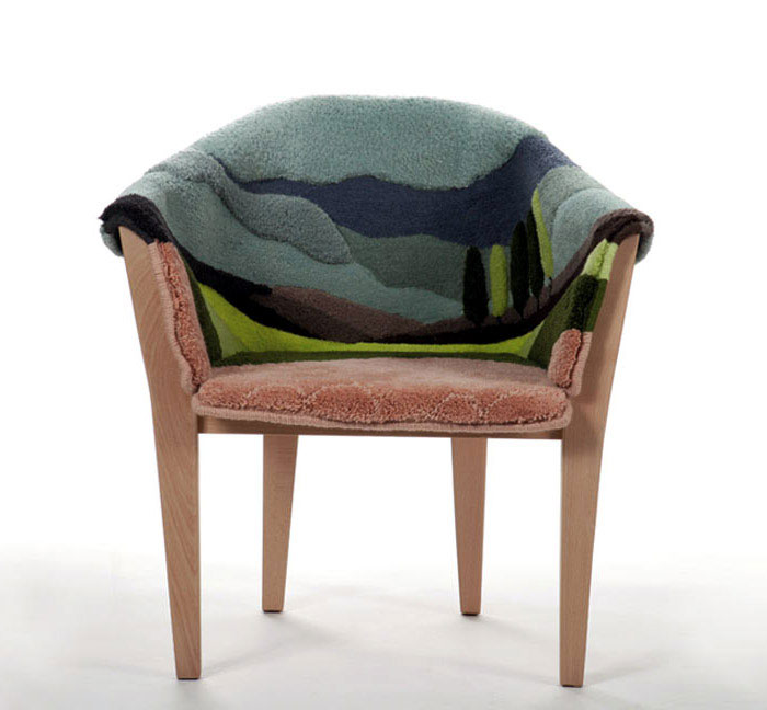 handtufted armchair