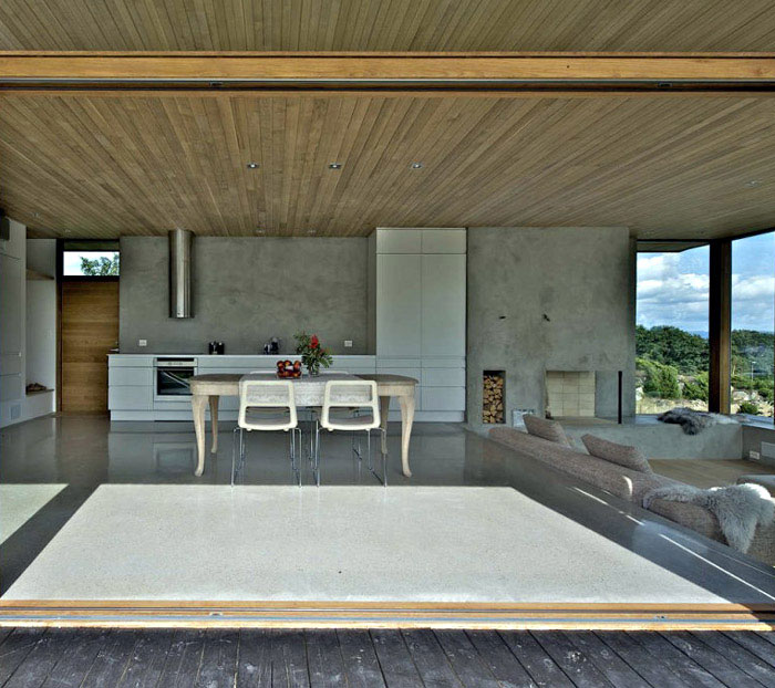 house with folding doors