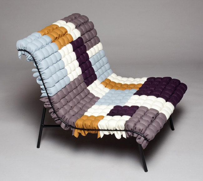 interior textile mosaiik chair