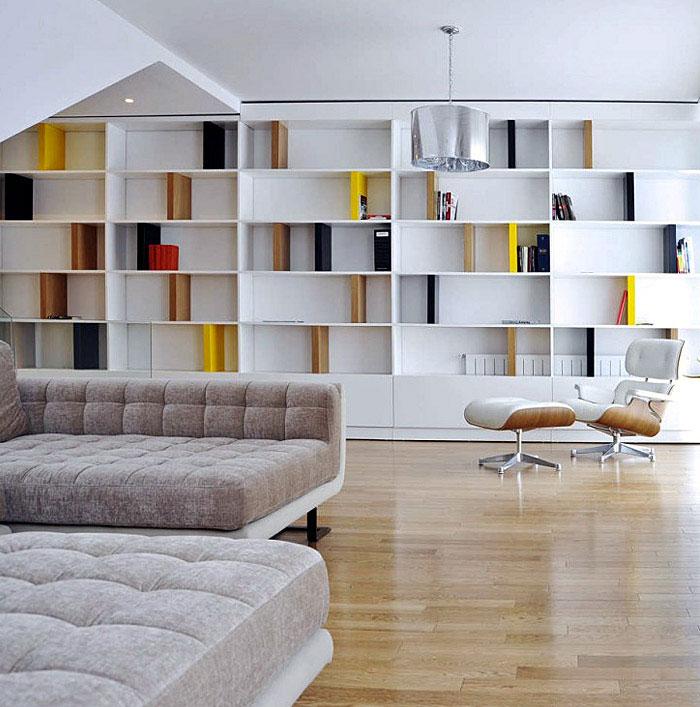 modern white livingroom interior