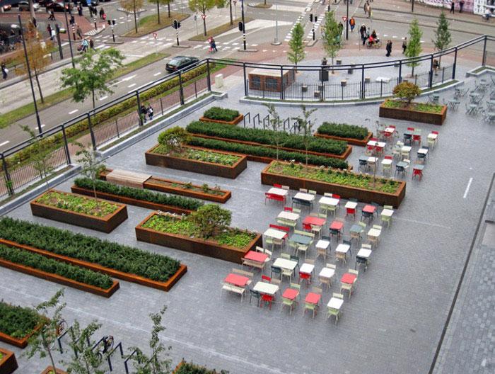 new square greenery