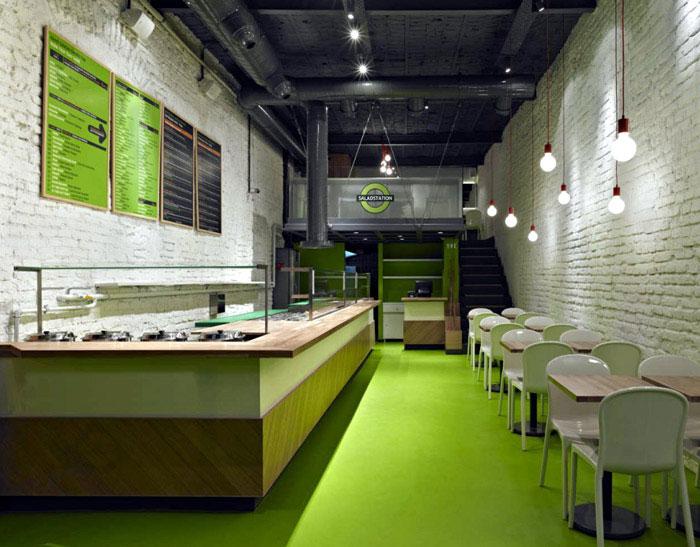 salad station restorant interior