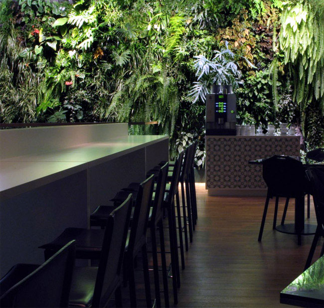 vertical garden cafe